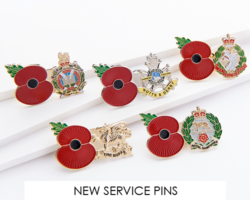 New Service Poppy Pins