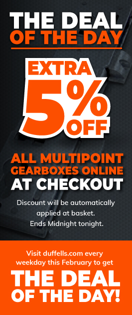 Get an extra 5% off all multipoint gearboxes at checkout! Today Only!