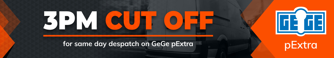 3PM Cut Off for same day despatch on GeGe pExtra